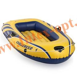 INTEX 68365 Одноместная надувная лодка Challenger-1 193х108х38см(без насоса и весел)