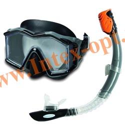 INTEX 55961 Маска и трубка для плавания Silicone Explorer Pro Swim Set (от 14 лет)