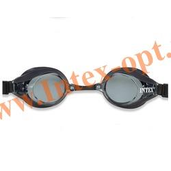 INTEX 55691 Очки для плавания Pro Racing Goggles (от 8 лет)черные