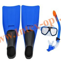 INTEX 55957 Набор для плавания Reef Rider Sports Set (маска,трубка,ласты 38-40 размер) от 8 лет