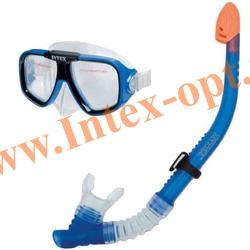 INTEX 55948 Маска и трубка для плавания Reef Rider Swim Set (от 8 лет)