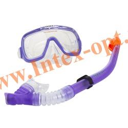INTEX 55950 Маска и трубка для плавания Wave Rider Swim Set (от 8 лет)фиолетовый