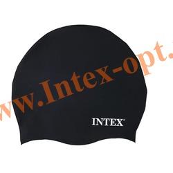 INTEX 55991 Силиконовая шапочка для плавания Silicone Swim Cap (от 8 лет)черная