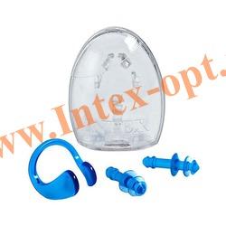 INTEX 55609 Набор для ныряльщика Ear Plugs and Nose Clip Combo Set (от 8 лет)