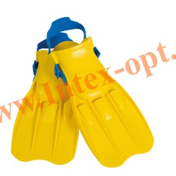 INTEX 55932 Ласты для плавания Large Swim Fins (размер 41-45)жёлтые