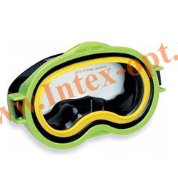 INTEX 55913 Маска для плавания Sea Scan Swim Masks (от 8 лет)зелёная