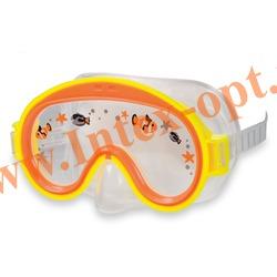 INTEX 55911 Маска для плавания Mini Aviator Swim Masks (от 3 до 8 лет) жёлтая
