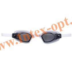 INTEX 55682 Очки для плавания Free Style Sport Goggles (от 8 лет)чёрные