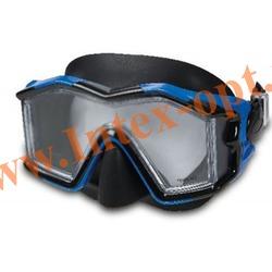 INTEX 55982 Маска для плавания Silicone Explorer Pro Masks (от 14 лет)синяя