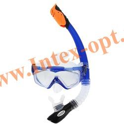 INTEX 55962 Маска и трубка для плавания Silicone Aqua Pro Swim Set (от 14 лет)