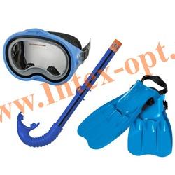 INTEX 55952 Набор для плавания Master Class Swim Set:маска,трубка и ласты(размер 38-40)от 8 лет