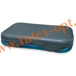INTEX 58412 Тент для надувных прямоугольных бассейнов Rectangular Pool Cover 305х183 см