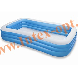 INTEX 58484 Надувной семейный бассейн Морская волна Swim Center Family Pool 305х183х56 см(от 6 лет)