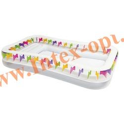 INTEX 57477 Надувной семейный бассейн с сиденьем Swim Center Family Lounge Pool 295х175х53см (от 6 лет)