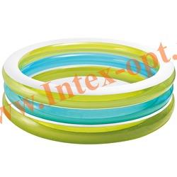 INTEX 57489 Надувной семейный бассейн Swim Center See-Through Pool 203х51 см(от 3 лет)