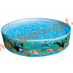 """INTEX 58461 Бассейн детский с жёсткими стенками из прочного винила """"Ocean Reef Snapset Pool """" 183х38 см(от 3 лет)"""