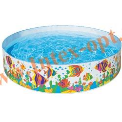 """INTEX 56453 Бассейн детский с жёсткими стенками из прочного винила """"Ocean Reef Snapset Pool"""" 244х46 см(от 3 лет)"""