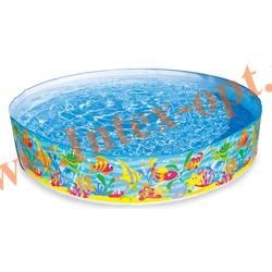 """INTEX 56452 Бассейн детский с жёсткими стенками из прочного винила """"Ocean Play Snapset Pool"""" 183х38 см(от 3 лет)"""
