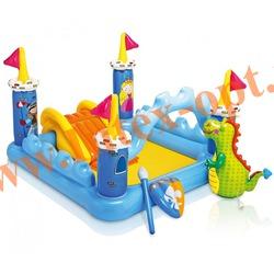INTEX 57138 Надувной игровой центр-бассейн с горкой Сказочный замок Fantasy Castle Play Center 185х152х107 см(от 2 лет)