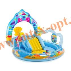 INTEX 57139 Надувной игровой центр-бассейн Королевство русалок Mermaid Kingdom Play Center 279x160х140 см(от 2 лет)