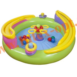 INTEX 48658 Надувной игровой центр Ball Toyz Lil Rolling Play Center 147х46 см(от 3 до 6 лет)