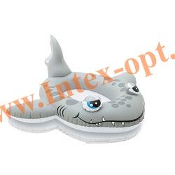 INTEX 57433 Надувной детский бассейн с фонтанчиком Акула Sandy Shark Spray Pool 229х226х107 см(от 2 лет)