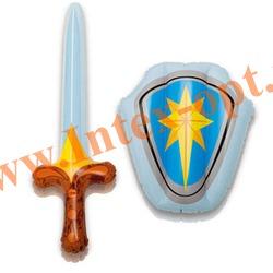 INTEX 44600 Надувные игрушки щит и меч Sword and Shield Play Set (от 3 лет)