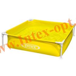 INTEX 57172 Детский сборно-разборный бассейн с металлическим каркасом Mini Frame Pool 122х122х30 см(жёлтый)