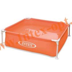 INTEX 57171 Детский сборно-разборный бассейн с металлическим каркасом Mini Frame Pool 122х122х30 см(персиковый)