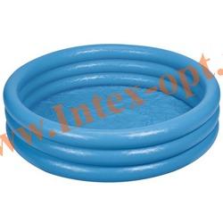 INTEX 58446 Надувной детский бассейн Кристалл Crystal Blue Pool 168х38 см(от 2 лет)