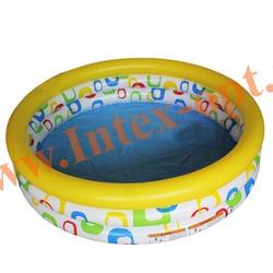 INTEX 59419 Надувной детский бассейн Wild Geometry Pool 114х25 см(от 2 лет)