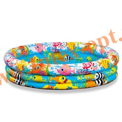 INTEX 59431 Надувной детский бассейн Fishbowl Pool 132х28 см(от 2 лет)