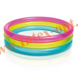 INTEX 57104 Надувной детский бассейн Rainbow Baby Pool 86х25 см(от 1 до 3 лет)