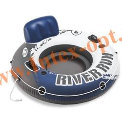 INTEX 58825 Круг-кресло надувное для плавания River Run I (Ø 135 см) без насоса