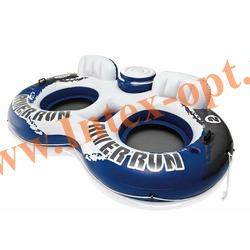 INTEX 58837 Круг-кресло надувное двухместное для плавания River Run II(243 х 157 см) без насоса