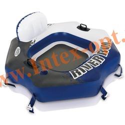 INTEX 58854 Плот-круг надувной для плавания River Run Connect Lounge(130 х 126 см)без насоса