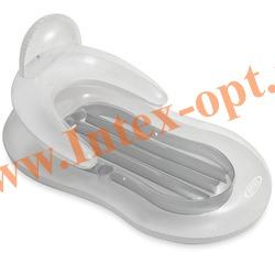 INTEX 58857 Надувной матрас-шезлонг для плавания Floating Comfort Lounge (155 х 97 см)без насоса