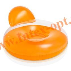 INTEX 58889 Круг-кресло надувное для плавания Pillow-Back Lounges (137 х 122 см) без насоса