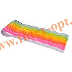 INTEX 58876 Матрас с подголовником надувной для плавания Color Splash Mats (191 х 81 см) без насоса