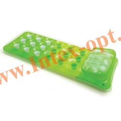 INTEX 58890 Матрас надувной для плавания с подголовником 18-Pocket Fashion Mats (188 х 71 см)без насоса