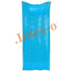 INTEX 59718 Матрас надувной с подголовником для плавания Relax-A-Mat (183 х 69 см)без насоса