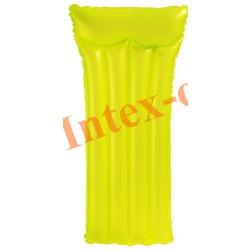 INTEX 59717 Надувной матрас для плавания Неоновый Neon Frost Air Mats (183 х 76 см)без насоса