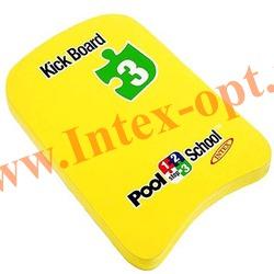 INTEX 59168 Плавательная доска Kickboard Pool School Step 3 45х30 см(от 3 лет)