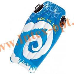 INTEX 58165 Надувная плавательная доска-матрас с пластиковыми ручками Joy Rider 112х62 см(от 6 лет)без насоса