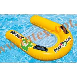 INTEX 58167 Надувной плотик для плавания Kickboard Pool School Step 3 79х76 см(от 3 лет)без насоса