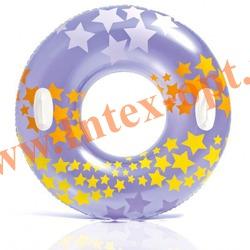 INTEX 59256 Круг с ручками надувной для плавания Stargaze Tubes Ø 91 см(от 9 лет) без насоса
