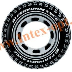 INTEX 59252 Круг надувной для плавания Шина Giant Tire Tube Ø 91 см(от 9 лет) без насоса