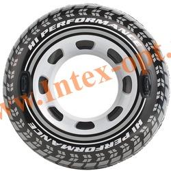 INTEX 56268 Круг с ручками надувной для плавания Большая шина Monster Truck Tube Ø 114 см(от 9 лет) без насоса