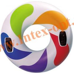 INTEX 58202 Круг надувной для плавания с ручками Cool Whirl Tube Ø 119 см (от 9 лет)без насоса