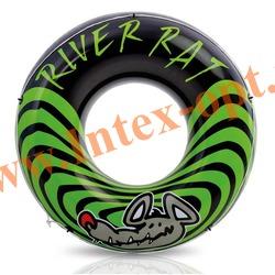 INTEX 68209 Круг-кресло надувное для плавания River Rat Ø 122 см(от 9 лет)без насоса